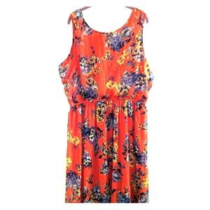 Speed Control sz 3X floral sleeveless maxi dress